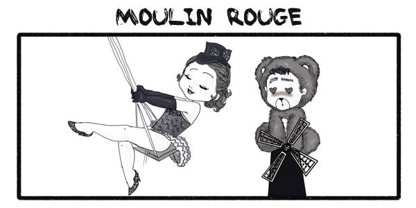 Moulin Rouge orsetto bambolina